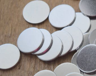 Stamping Blanks Aluminum 14 GAUGE Round - You choose the size  De-Bured