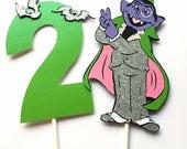 Sesame Street cake topper, Sesame Street decorations, The Count cake topper, Sesame Street first birthday decorations