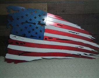 "22"" Tattered American Flag"