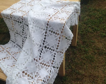 Beautiful handmade table cloth - Made from premium cotton - Table decor , Table linen