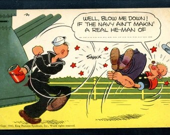 Vintage Post Card by King Features Syndicate Features Popeye the Sailor Never Used See Scan