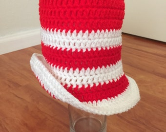 Crochet Dr. Suess hat, Cat in the hat
