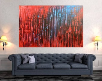 Modern abstract artwork in XXL by Alexander Zerr acrylic on canvas 120x180cm #462
