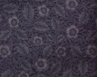 Quilt Fabric Quilting Fabric Cotton Calico Purple Tonal Floral by David Textiles: Fat Quarter or Cut-to-Order