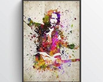 Chris Cornell Poster, Chris Cornell Art, Chris Cornell Print, Soundgarden, Audioslave, Home Decor, Gift Idea