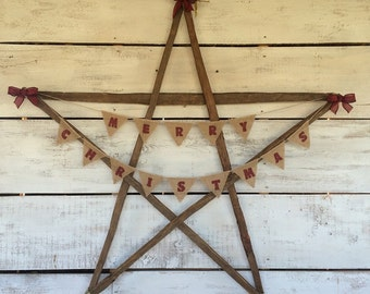Country Christmas Wood Star, Wood Star, Wooden Star, Wood Wall Art, Primitive Country Star, Wood Wall Hanging, Rustic Home Decor