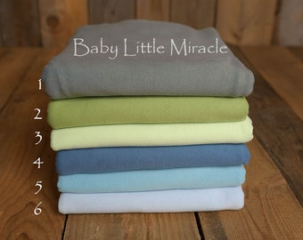 Blue Newborn Photo Prop Backdrop  - Newborn stretch backdrop – cotton, baby backdrop, stretch baby, blanket,photography prop,newborn