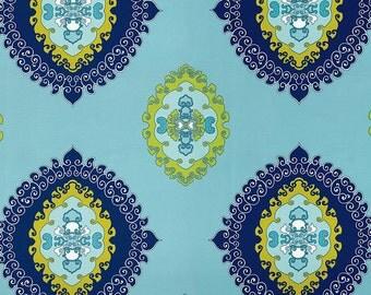 Schumacher Pillow Cover  Indigo Aqua Blue Pillow Outdoor ONE Pillow Cover Trina Turk Super Paradise Pillow Both Sides Designer Pillow