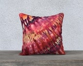 Outdoor Tie Dye Throw Pillow- Pink Purple Terracotta-Weather-resistent-UV coating-Square Rectangle-14x20, 16x16, 18x18, 20x20