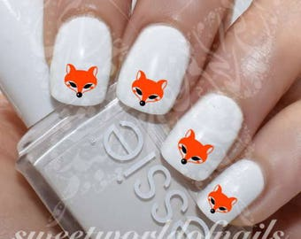 Cute Fox Nail Art Nail Water Decals Transfers Wraps