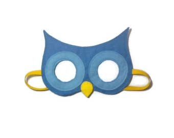 Kids owl mask, Owl mask, Children's owl mask, Children's mask, Bird mask, Kid's mask, Felt mask