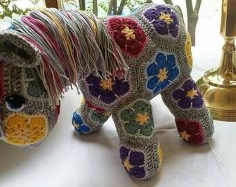 Fatty Lumpkin African Flower Crochet Pony
