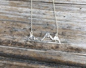 Mountain Necklace, Mountain Charm Necklace, California Necklace, Northwest Necklace, Gift for her