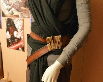 Star Wars the Force Awakens Dark Side Rey Cosplay Costumd
