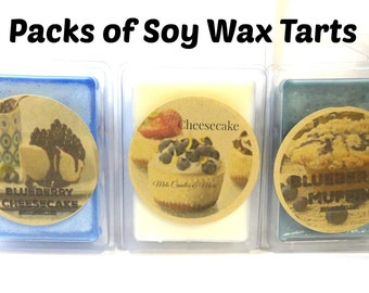 COMBO 3 Packs of Soy Wax Tarts  Cheesecake, Blueberry Cheesecake & Blueberry Muffin