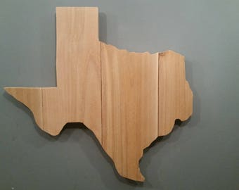 Rustic Texas State Sign/Plaque, Add a heart to your location