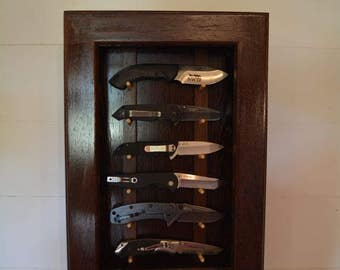 Knife Display Case Wall Mounted Knife Display Cabinet