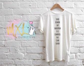 EXO member names T-Shirt