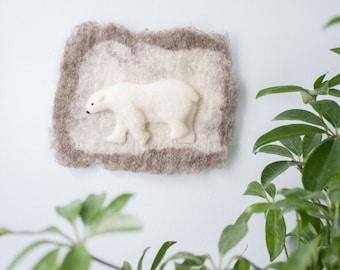 Mini Polar Bear Wall Hanging
