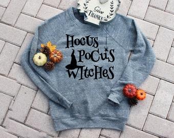Halloween Hocus Pocus Witches UNISEX Sweater. Funny Halloween Shirt. Womens Halloween Shirt. Happy Halloween Witches