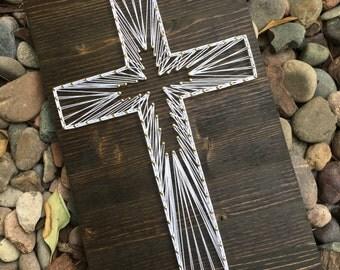 Custom String Art Cross