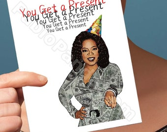 Funny Birthday Card | Oprah Winfrey | Motivational Quote Funny Birthday Cards Cute Gifts For Boyfriend Birthday Cards For Men Boyfriend Gift