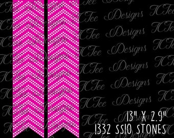 Rhinestone Cheer Bow Template - SVG Design Download - Vector Cut File