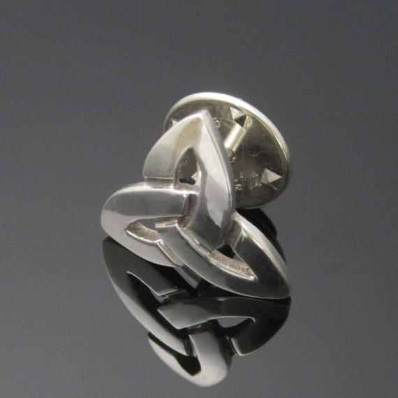 Silver Trinity Knot Tie-Pin / Tie-Tack - Handmade in Ireland - Father's day gift