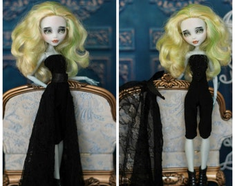 Jumpsuit with skirt-train for  Monster High/EverAfterHigh, Momoko doll  1/6 size