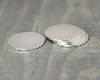 Sterling Silver Stamping Blank, 10 Pack, 5/8 Inch Disc, 20 Gauge Silver, 15.9mm Disc, Silver Round, Silver Blank, Stamping Supplies, Blanks