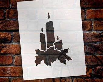 Christmas Shapes Stencil - Holiday Candles - Select Size - STCL1553 - by StudioR12