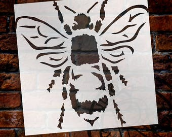 Bee Stencil by StudioR12 | Reusable Mylar | Use for Painting Wood, Fabric, Furniture | DIY Vintage French Country Home Decor | CHOOSE SIZE