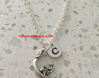 Gondola initial necklace - gondola charm necklace, gondola jewelry, travel jewelry, Italy necklace, Venice necklace, Europe jewelry