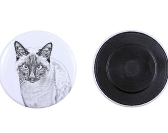 Magnet with a cat -Siamese cat