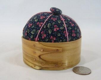 Hand made small band box with pin cushion