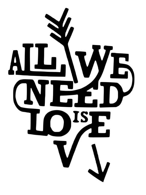 Download All you need is love, SVG file by Parties by Rebecca ...