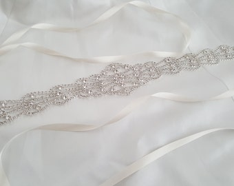 Wedding Belt, Bridal Belt, Crystal Sash Belt, Crystal Rhinestone Belt, Style 1110