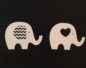 32 Baby Elephant Nursery Decals