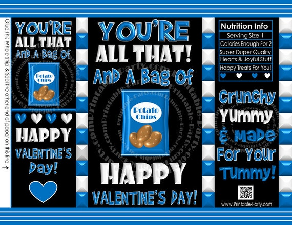 printable valentine 39 s day treat bags valentine 39 s day chip bags by printable catch. Black Bedroom Furniture Sets. Home Design Ideas