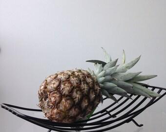 Vintage metal fruit basket/schaal
