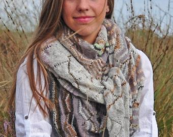 knitting pattern chevron / ajour scarf