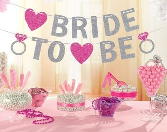 BRIDE TO BE Banner - Bride to Be Bunting - Hen Party Banner - Hen Party Bunting