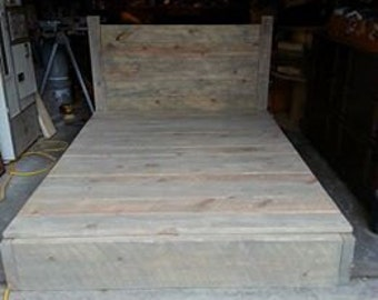 Hand Made Bed Frame (King or Queen) 100% customizable with platform top