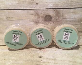 3 Essential Oils Shaving Soap