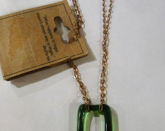 Blu Marble Necklace/Handcrafted From Jagermeister Bottle
