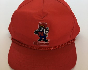 Nebraska Cornhuskers red vintage trucker hat