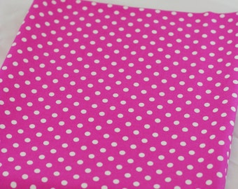 DUMB DOT in Raspberry-White on Hot Pink Polka Dot Michael Miller
