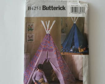 Butterick Pattern B4251, Children's Tepee and Play Mat - Uncut