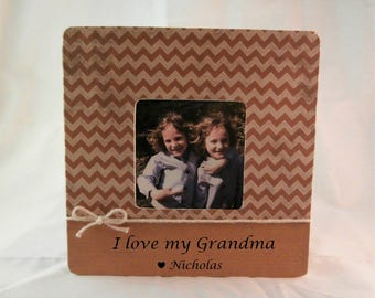 Mothers day gift from Grandson picture frame for grandma i love my grandparents