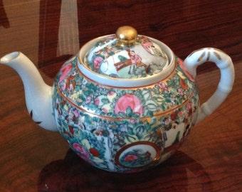 Rose Medallion Vintage Teapot A.C.F. Japanese Porcelain Ware